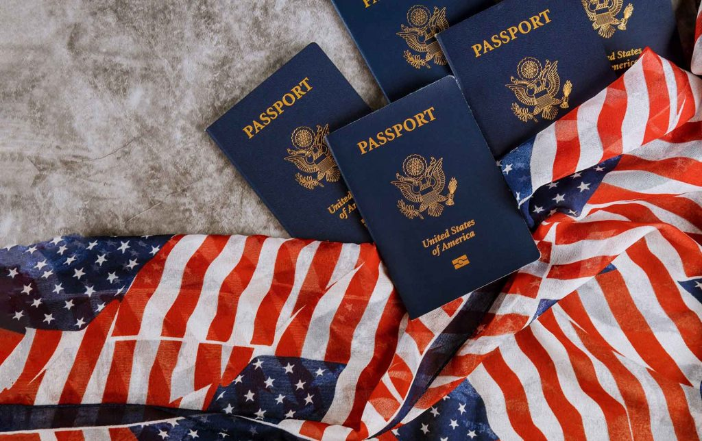 Grape Law Starting Your Business in the USA Page, New Blue United States Of America Passport On Unit